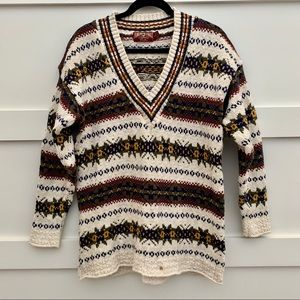 VINTAGE 90s American Eagle chunky v neck sweater